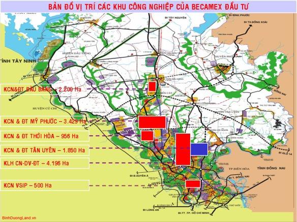 map cac khu CN-becamex